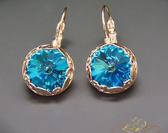 Swarovski Crystal Earrings Statement Earrings Bridal Earrings Bridesmaid Gift Vintage Earrings Drop Earrings Gift for Her Wedding Jewelry