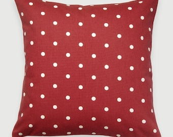 Plain Red Dotty Fabric Cushion, Fabric, Cushion ,Home Decor, Handmade, Fabric, Home, Home and Garden, Free Postage