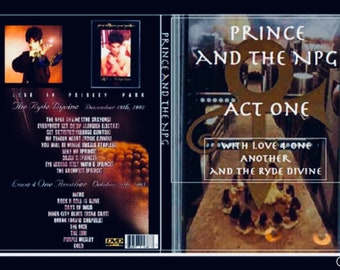 Prince Act 1 TV Movie, The Ryde Divine, Love 4 1Another and The NPG live Radio City Music Hall 1993 3 Dvds