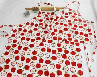 White Apples Mother Daughter Aprons