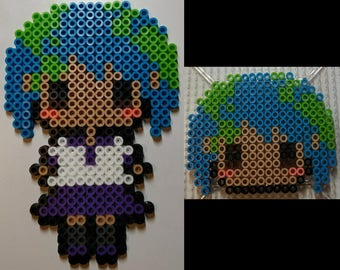 Earth-Chan Perler Bead Figurine