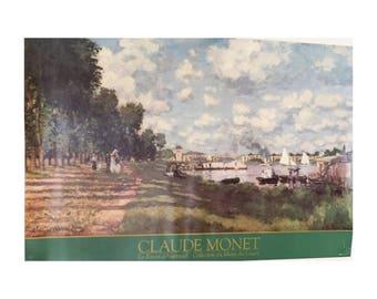 Claude Monet Print of Le Bassin D'Argenteuill • 1986 Museum Poster