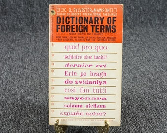 Dictionary Of Foreign Terms By C. O. Sylvester Mawson, C. 1961