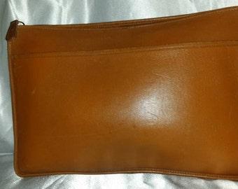 """Vintage Coach XL 17"""" Camel Leather Portfolio Attaché Briefcase"""