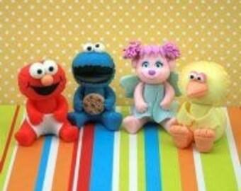 Sesame Street friends cake toppers. Sesame Street birthday decorations. Sesame steet cake topper.