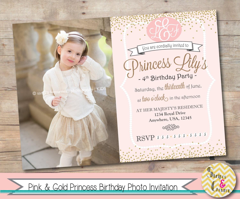 Princess Invitation Printable Princess Party Invite