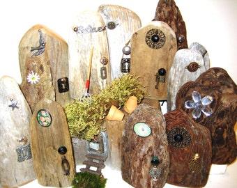 Elf Door,Reclaim Wood Door,Christmas Gift Ideas,Fairy Door,Wooden Fairy Door,Fairy Garden,Accessories,Small Wood Door,Fairy Accessories