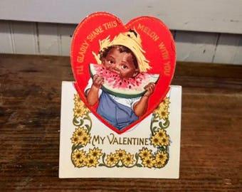 Vintage Valentine, Vintage Art & Graphics, Watermelon