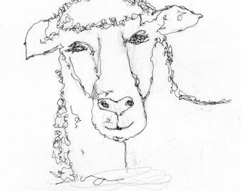 Thermofax Screen Sheep