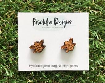 Bamboo Bumblebee Earrings