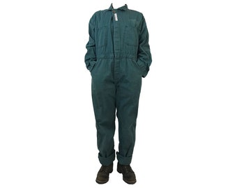 Vintage 50's Universal Coverall Co. Stone Cutter Sanforized Union Made HBT Donut Buttons Mechanic Coverall Jumpsuit (VCO-5)