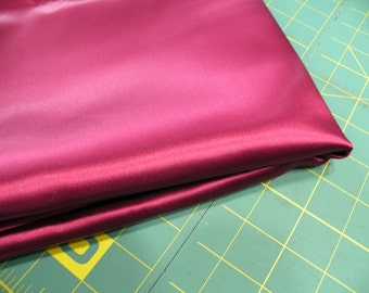 Maroon Burgundy Satin Fabric 3 plus yds.