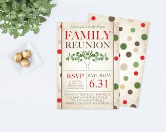 Family reunion invitations family reunion invite template printable family reunion invitation editable pdf template bbq family picnic family tree saigontimesfo