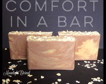Oatmeal, Milk, and Honey Soap - OMH - Oatmeal Soap - Honey Soap - Milk Soap - Comfort In A Bar Artisan Soap - Handmade Soap