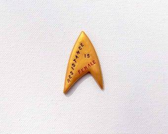 Star Trek Feminist Pin, Trekkie Enamel Pin, Star Trek Resistance is not futile Pin,  Feminist Gift, Resistance is futile pin