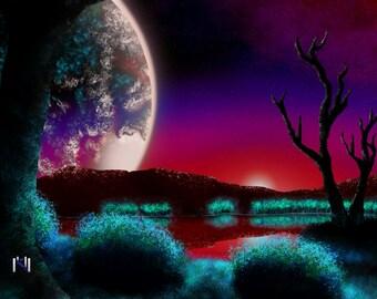 The Red Planet - Digital Art Print