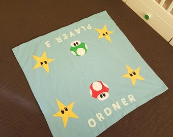 Super Mario Nintendo Player 3 Personalized Baby Blanket