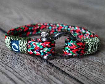 Summer Bracelet, Green Mens Bracelet, Red Mens Bracelet, Colouful Bracelet, Mixed Colours Bracelet, Mens Colourful Bracelet, Men Bracelet