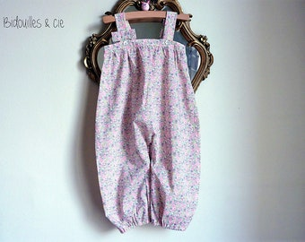 Liberty pink strapless jumpsuit