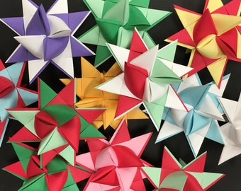 Moravian Paper Star Ornament two tone Large