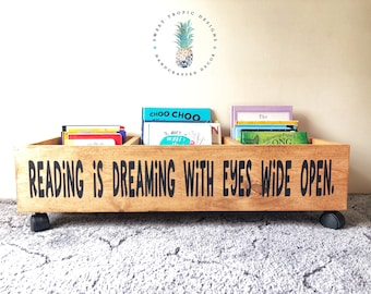 Kids Birthday Gift, Nursery Decor, Reading Is Dreaming Bookcase, First  Library, Kids Bookshelf, Book Storage, Toy Storage, Baby Shower Gifts