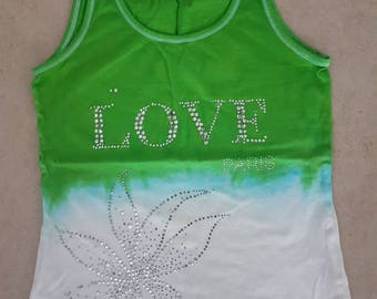 Top size S glitter love upcycling