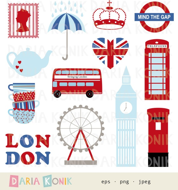 london clip art set-city clipart uk england great britain