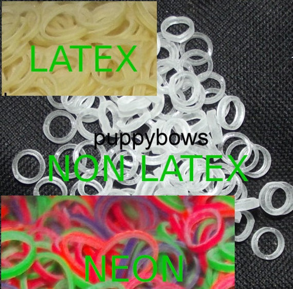 Puppy Bows ~ Latex Non Latex Neon Doll hair craft Bands ~elastic band ~USA seller