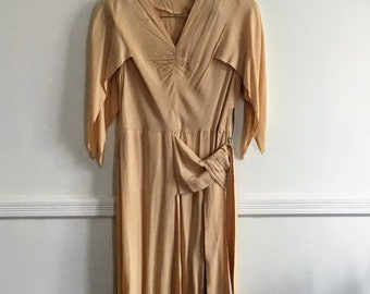 1920s Vintage Flapper Jazz Age Dress in Yellow/Jazz Age Lawn Party /Gatsby
