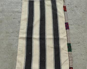 Chuval Bag, Handmade Turkish Bag, White Chuval Bag, Unique Chuval Bag, Kilim Bag, Traditional Kilim Bag, Vintage Bag, 61x113cm/2'0x3'8