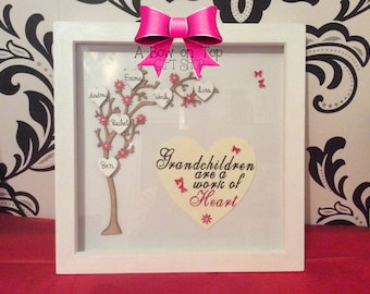 Personalised Grandchildren Family Tree Picture