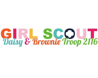 Personalized Girl Scout Multi-Level Troop Logo
