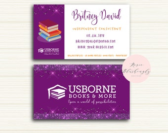 Usborne business cards, Usborne consultant business cards, Usborne marketing supplies and business cards, USBORNE