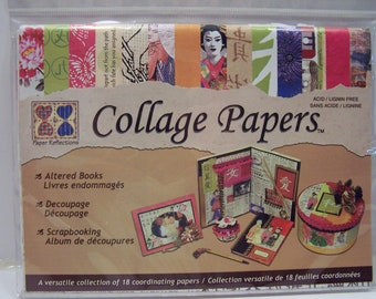 Asian Collage Papers scrapbook card-making paper