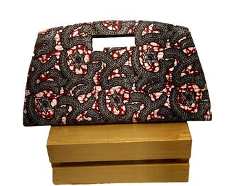 Ankara Bag, Ankara Clutch, African Print Handbag, African Handbag, African Print Bag, African Fabric, Hanukkah, Ankara Print, Star of David