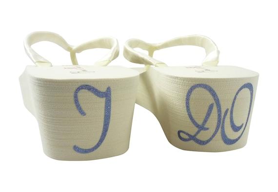 Bridal or your Design I own DO Flops Wedding Cute Flip White Ivory wCw8Tqv