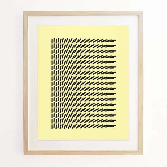Geo Motion 4 - Geometric Pattern Screenprint. Art Poster Print.