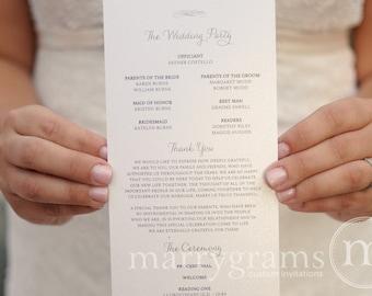 Elegant Wedding Programs - Single-Sided, Flat Programs - Fast, Affordable Wedding Programs - Simple Script Wedding Programs (Set of 50) SS01