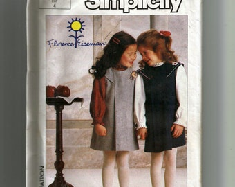 Simplicity Child's Jumper and Blouse Pattern 7058