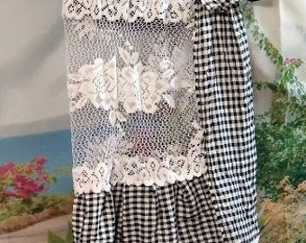 """upcycle handmade vntage look ooak dress tunic 34"""" chestboho country"""