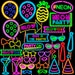 Neon Sign Photo Booth Props, Neon Party, Neon Birthday, Neon Glow props, Photo Booth props set, Printable, INSTANT DOWNLOAD