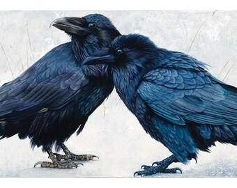 Raven Print Raven Art Fine Art Print Animal Spirit Guide