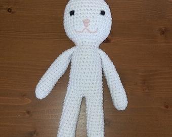 White Rabbit crochet blanket