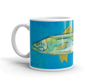 Gift for Dad Fishing, Fishing Gift, Fish Coffee Cup, Husband Gift, Fish Mug, Snook Mug, Gift, for Fisherman Gift, Fish Gift for Him