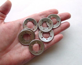 Recycled Jewelry Supply. Silver Rings. Techie Geek Steampunk  RC-10