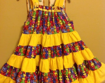 Autism awareness dress