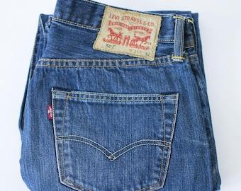 Vintage Distressed Levi 501 Jeans Straight Leg Mid Rise Black (Patch W31 L32) W 29 L 31 ru0Qs