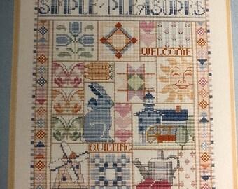 APRILSALE Dimensions, Simple Pleasures, Book Six, Nancy Rossi, #148, Vintage 1988, Counted Cross Stitch, Design