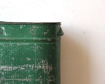 Tall Industrial Green Laundry / Pantry Storage Bin
