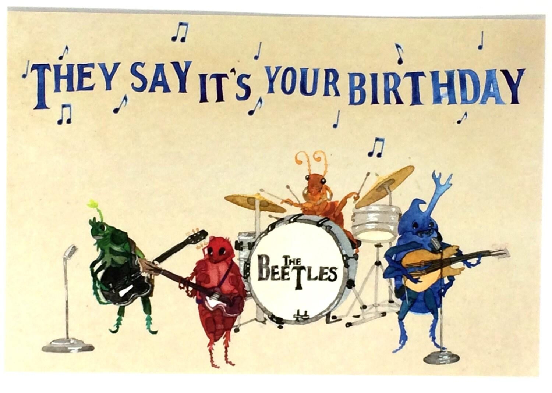 Beatles happy birthday postcards beetles bday musical oldies zoom kristyandbryce Gallery